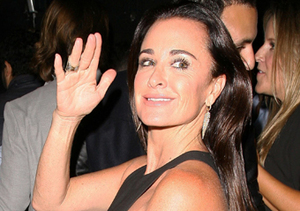 """Real Housewife"" star Kyle Richards enjoyed a night out at 1OAK nightclub in…"