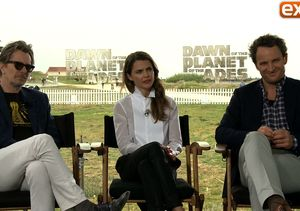 'Extra' Hangs with the Cast of 'Dawn of the Planet of the Apes'