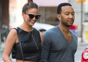 John Legend and model wife Chrissy Teigen stepped out hand-in-hand in Soho.