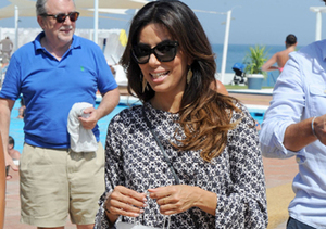 Eva Longoria was spotted vacationing with friends in Marbella, Spain.