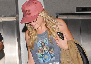 """LeAnn Rimes touched down at LAX on Sunday, after a press tour for VH1's """"LeAnn…"""