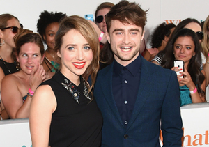 "Zoe Kazan and Daniel Radcliffe attended the ""What If"" premiere in NYC."