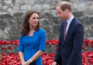 "Kate Middleton and Prince William visited Paul Cummins' art installation ""Blood…"