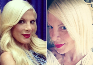 Tori Spelling Chopped Off Her Hair in the Middle of the Night!