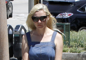 Kirsten Dunst met a friend for lunch in West Hollywood.
