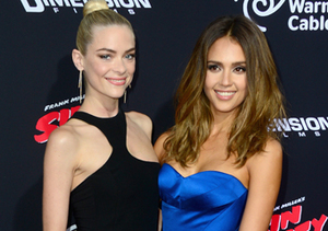 """Jaime King and Jessica Alba attended the """"Sin City"""" premiere in Hollywood."""