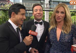 Emmy Awards 2014: Jimmy Fallon Crashes 'Extra's' Interview with Julia…