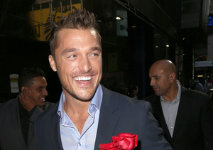 "New ""Bachelor"" Chris Soules stopped by ""Good Morning America"" in NYC."