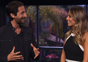 Adrien Brody Talks About Playing Harry Houdini, Shows Off a Yoga Pose