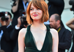 """Emma Stone attended the opening ceremony and """"Birdman"""" premiere at the Venice…"""