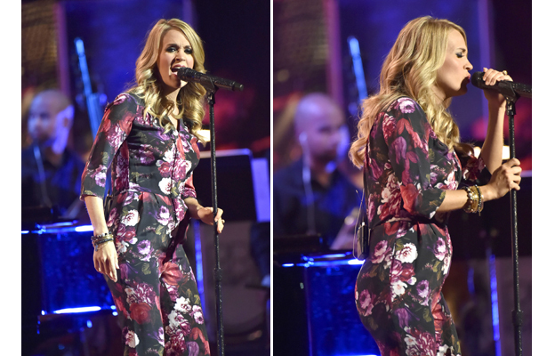 Pic! Carrie Underwood Debuts Tiny Baby Bump