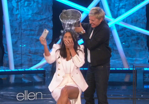 Video! Kim K Takes the ALS Ice Bucket Challenge on 'Ellen'