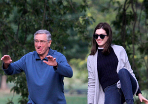 "Robert De Niro and Anne Hathaway practiced tai chi on the set of ""The Intern."""