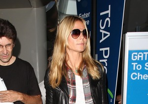 Heidi Klum returned to L.A. after a trip to NYC.