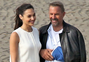 """Kevin Costner wore his arm in a sling while filming """"Criminal"""" with Gal Gadot…"""