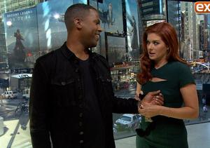 Debra Messing Handcuffs Our AJ Calloway, Talks 'The Mysteries of Laura'