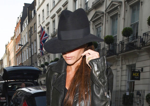 Victoria Beckham paid a visit to her soon-to-open boutique on Dover Street in…