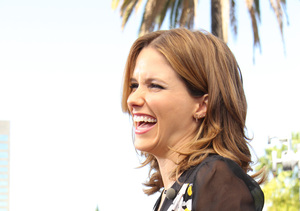 """""""Extra's"""" Mario Lopez caught up with """"Chicago Fire"""" star Sophia Bush at…"""