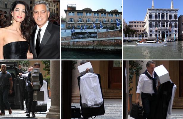 George Clooney's Wedding Preparations Under Way in Venice