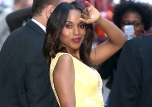 """Fashionista Kerry Washington, who stopped by """"GMA"""" on Tuesday in NYC, is…"""