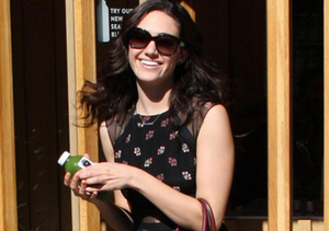 Emmy Rossum stopped for juice in Beverly Hills.
