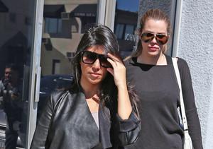 Kourtney and Khloé Kardashian stopped by John Baldessari's gallery in L.A.
