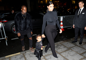 So Cute! Kim K & Kanye Take North West to Paris Fashion Week