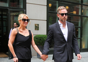 Jessica Simpson and husband Eric Johnson walked hand-in-hand in NYC.