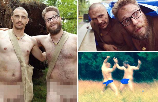 Pics! James Franco and Seth Rogen Are 'Naked and Afraid'