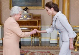 Angelina Jolie Meets the Queen, Receives Honorary Damehood