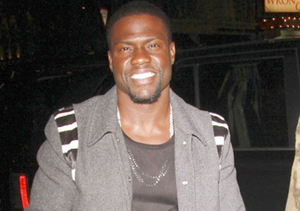 Kevin Hart stopped by Cucina Asellina restaurant in the ME Hotel in London.