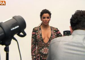 'Extra' Raw! Eva Longoria In the ALMA Awards Getty Photo Room