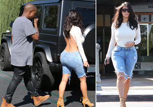 Is Kim K Bringing Sexy Back? Tell Us What You Think of Her Outfit