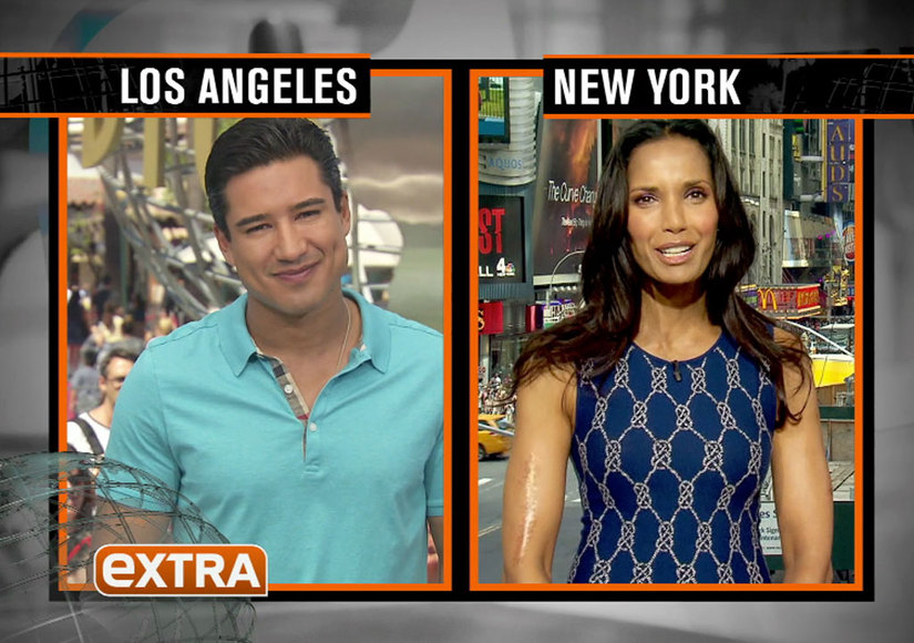 Padma Lakshmi Helps Co-Host 'Extra' From our H&M Studios!