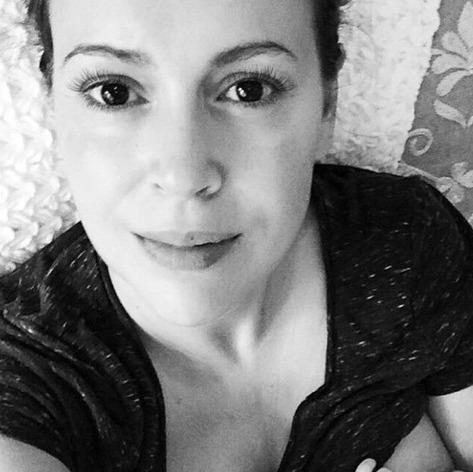 Alyssa Milano Shares Tender Breastfeeding Photo