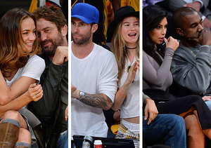 Pics! Star Couples Get Cozy at Lakers Game