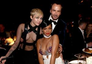 Miley Cyrus vs. Rihanna: See Their Shocking Skin Show at amfAR Dinner