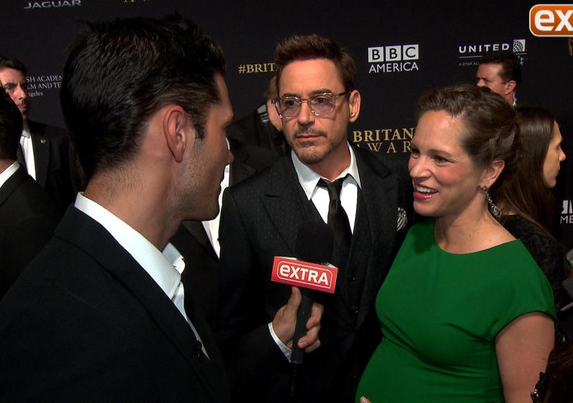 'Extra' with Robert Downey Jr., Emma Watson, and Julia Louis-Drefyus at…