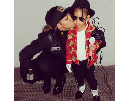 Pic! Beyoncé and Blue Ivy Dress Up as Janet Jackson and MJ for Halloween