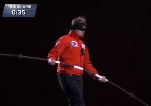 Video! Nik Wallenda's Blindfolded Tightrope Walk Between Chicago Skyscrapers