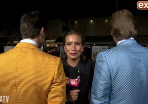 'Extra' with Jim Carrey and Jeff Daniels at 'Dumb and Dumber To' Premiere