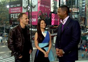 Jonny Lee Miller and Lucy Liu Give 'Extra' a Lesson in 'Elementary'