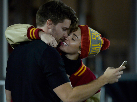 Caught on Camera! Miley's Hot Makeout Session with Patrick Schwarzenegger