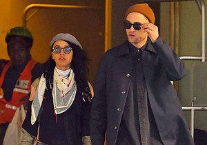 PDA Alert! Robert Pattinson Gets Cheeky with Girlfriend FKA twigs