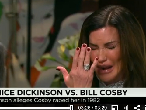 Video: Janice Dickinson's Tearful TV Breakdown over 'Monster' Bill Cosby