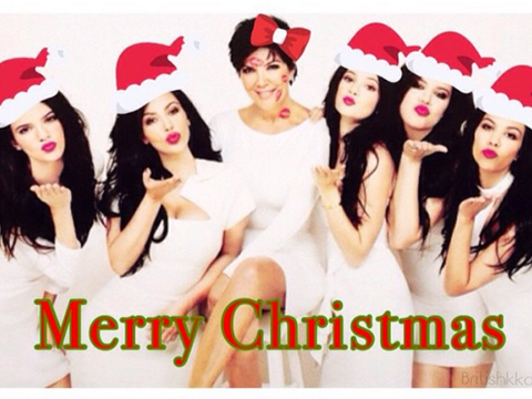 Wait, Is This the 2014 Kardashian Christmas Card?