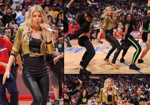 Fergie Surprises L.A. Basketball Fans with 'LOVE' Song!