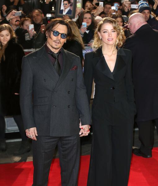 Johnny Depp and Amber Heard UK PDA... or How to Squash Split Rumors