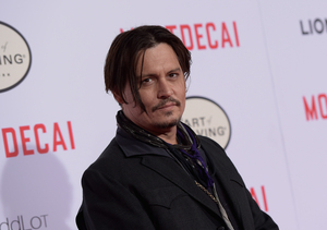 Johnny Depp Attends 'Mortdecai' Premiere Solo! Where Was Amber?