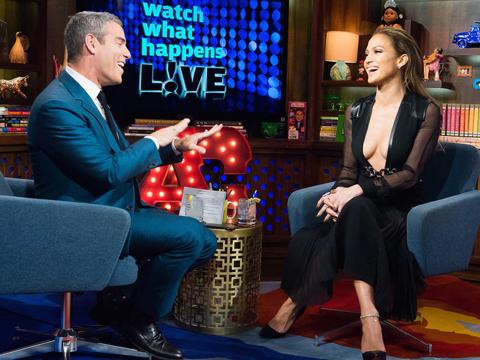 Jennifer Lopez Shows Lotsa Skin, Talks Exes on 'WWHL'